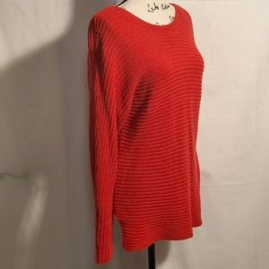 A.N.A Red Knit Sweater Size Small
